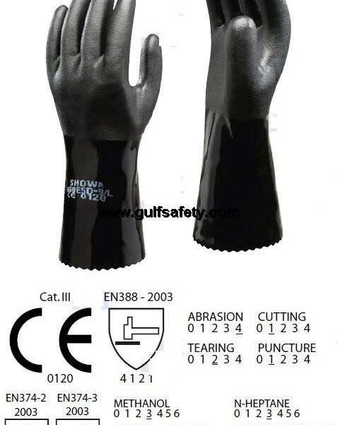Sizes Available Water and Oil Resistant Gloves SHOWA 660 Chemical